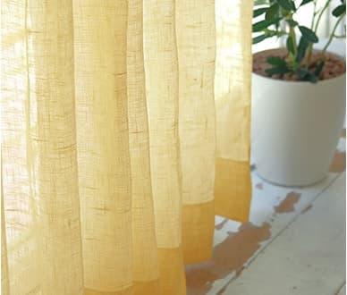 ロハスライフを過ごすあなたにぴったり 5色展開のベラルーシ産リネンレースカーテン~ニース~