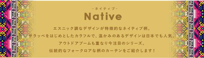 ネイティブ:メキシコらしいナバホ柄