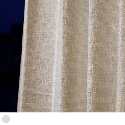 キラキラと光る糸を織り込んだ素材感ある白いカーテン<ディディ>