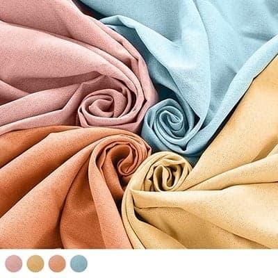 ざっくりとした素材感と明るいカラーの無地がナチュラルで可愛い遮光カーテン~コテージポップ~