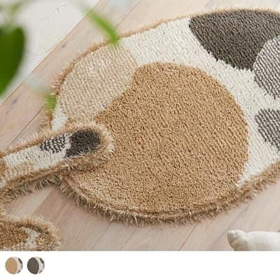 ペットと快適に暮らそう♪消臭機能付きの可愛い日本製マット ブチマルマット 42×60cm