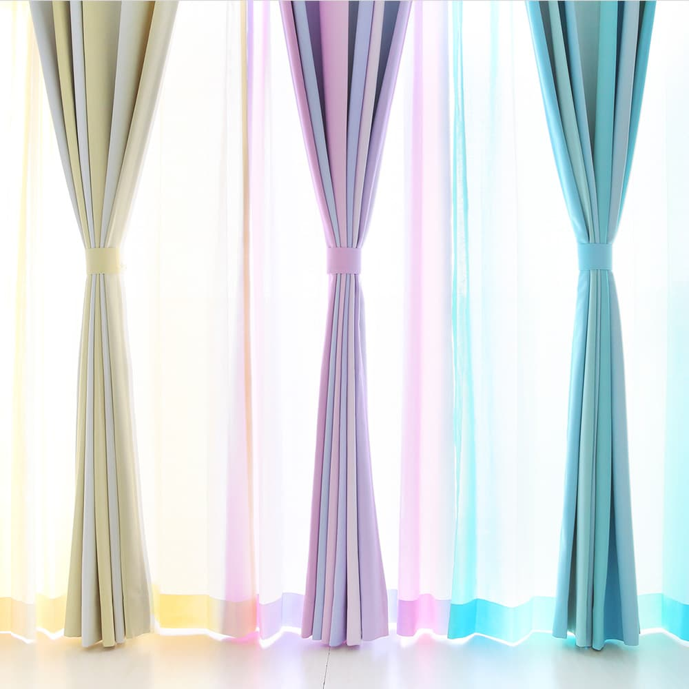 カラーによって表情を変える美しい縦グラデーションカーテン アポロ