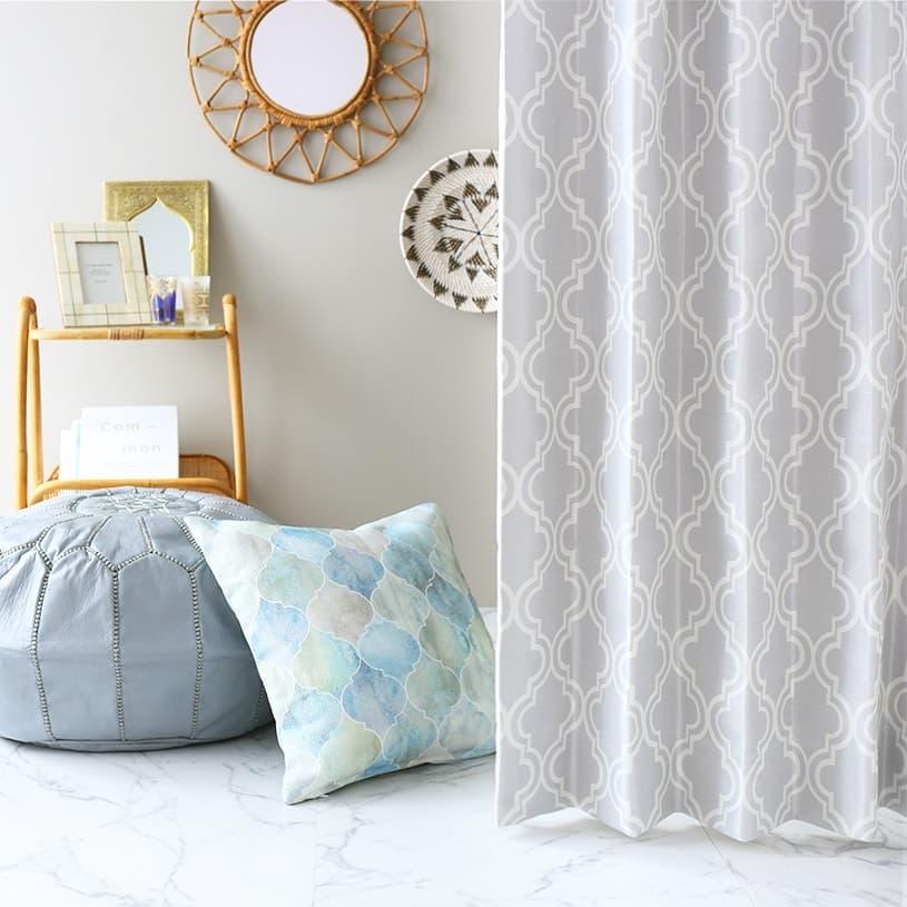 モロッカン 遮光カーテン 人気のモロッカンタイルデザインのオリジナルカーテン<モロッコタイル>