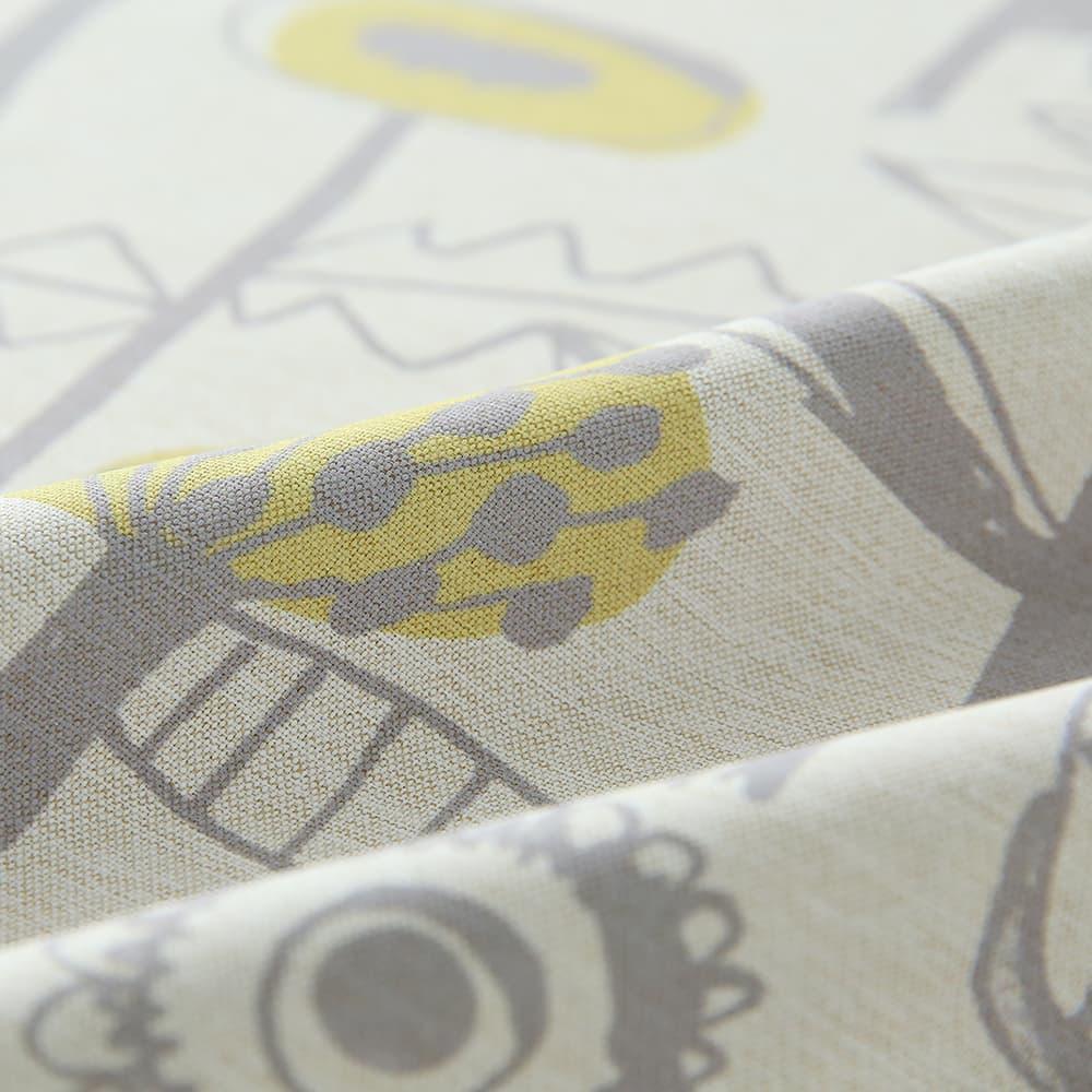 ジジアイボリーと白いレースカーテンのコーディネートセット
