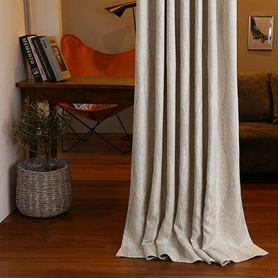 流れる曲線デザインがモダンなメンズカーテン ~ガレリア~/ベーシックスタイル 標準1.5倍ヒダ(2つ山)
